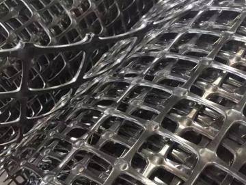 双向塑料土工格栅的结构